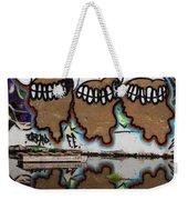 Three Skulls Graffiti Weekender Tote Bag