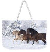 Three Snow Horses Weekender Tote Bag