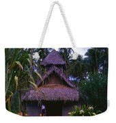 Three Story Hut 2 In Color Weekender Tote Bag