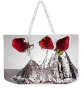 Three Strawberries Freshsplash Weekender Tote Bag