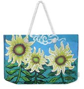 Three Sunflowers Weekender Tote Bag