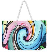 Three Swirls Weekender Tote Bag by Helena Tiainen