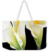 Three Tall Calla Lilies Weekender Tote Bag