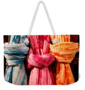 Three Tie-dye Knots Weekender Tote Bag