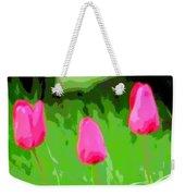 Three Tulips - Painting Like Weekender Tote Bag