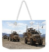 Three U.s. Army Mine Resistant Ambush Weekender Tote Bag