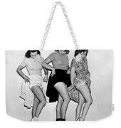 Three Women Lift Their Skirts Weekender Tote Bag