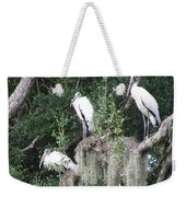Three Wood Storks Weekender Tote Bag
