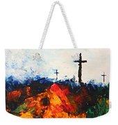 Three Wooden Crosses Weekender Tote Bag
