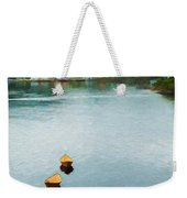Three Yellow Boats Weekender Tote Bag