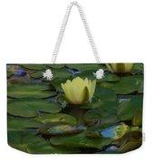 Three  Yellow Lilies Weekender Tote Bag
