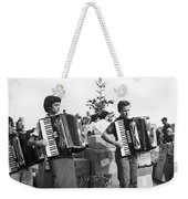 Three Young Accordion Players Weekender Tote Bag