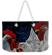 Three's A Crowd   -    Roosters -chicken Weekender Tote Bag