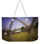 Through The Fence Water Color Weekender Tote Bag