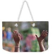 Throw Me Somethin' Hands Weekender Tote Bag