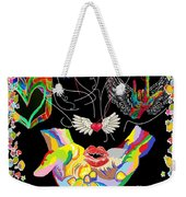 Throwing Kisses And I Love Yous Weekender Tote Bag