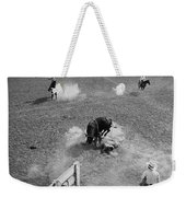 Thrown Bull Rider Rodeo Tohono O'odham Reservation Sells Arizona 1969  Weekender Tote Bag