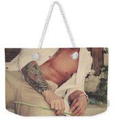 Thrown Out Weekender Tote Bag by Laurie Search