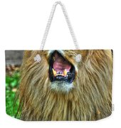 Thunder Vocals Of Lazy Boy At The Buffalo Zoo Weekender Tote Bag