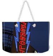 Thunderbolt Rollercoaster Neon Sign Weekender Tote Bag