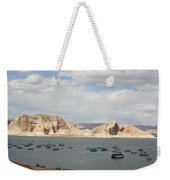 Thunderstorm Atmosphere Over Lake Powell Weekender Tote Bag
