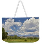 Thunderstorm Clouds Boiling Over The Colorado Rocky Mountains Weekender Tote Bag