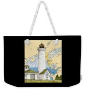 Tibbetts Pt Lighthouse Ny Lake Ontario Nautical Chart Map Art Weekender Tote Bag