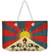 Tibet Flag Vintage Distressed Finish Weekender Tote Bag