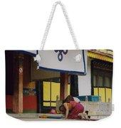 Tibet Prayer 1 Weekender Tote Bag