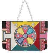 Tibetan Mandala Weekender Tote Bag