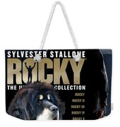 Tibetan Mastiff Art Canvas Print - Rocky Movie Poster Weekender Tote Bag