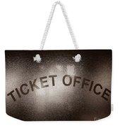 Ticket Office Window Weekender Tote Bag