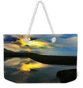 Tidal Pond Sunset New Zealand Weekender Tote Bag
