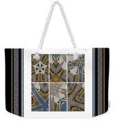 Tied To My Concrete Garden - Kaleidoscope - Hexaptych Weekender Tote Bag