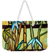 Stained Glass Tiffany Bamboo Panel Weekender Tote Bag