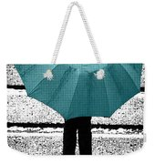 Tiffany Blue Umbrella Weekender Tote Bag