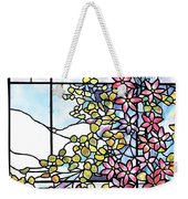 Stained Glass Tiffany Floral Skylight - Fenway Gate Weekender Tote Bag