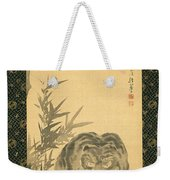Tiger And Bamboo Weekender Tote Bag