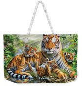 Tiger And Cubs Weekender Tote Bag by Adrian Chesterman