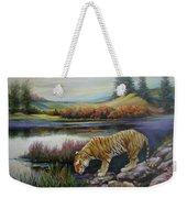 Tiger By The River Weekender Tote Bag