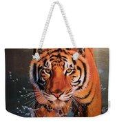 Tiger Crossing Water Weekender Tote Bag
