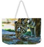 Tiger Drinking Water Weekender Tote Bag