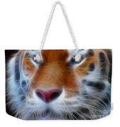 Tiger Face Fractal Weekender Tote Bag