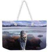 Tiger In A Lake Weekender Tote Bag