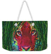 Tiger In The Grass Weekender Tote Bag