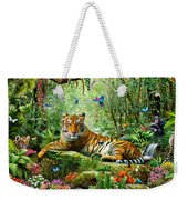 Tiger In The Jungle Weekender Tote Bag