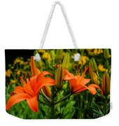 Tiger Lily Blossoms Weekender Tote Bag