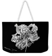 Tiger Lily In Black And White Weekender Tote Bag