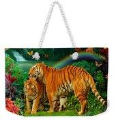 Tiger Love Tropical Weekender Tote Bag