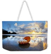 Tiger Nautilus Sunrise Weekender Tote Bag